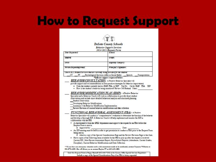 How to Request Support