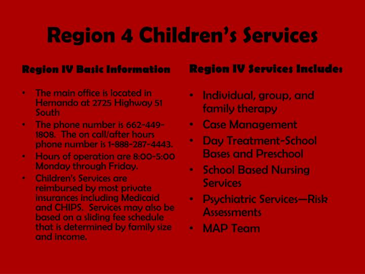 Region 4 Children's Services