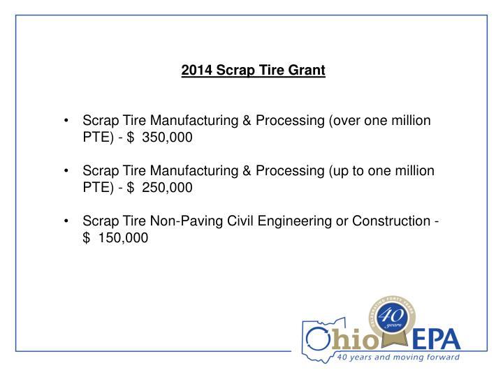 2014 Scrap Tire Grant