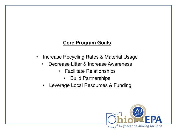 Core Program Goals