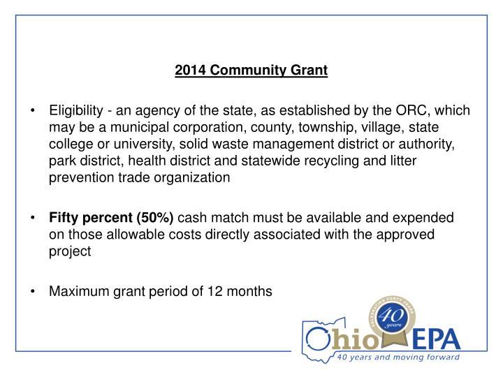 2014 Community Grant