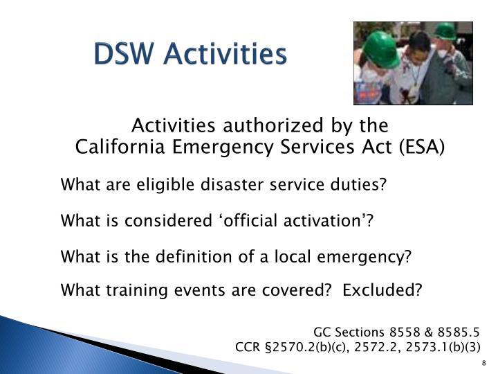DSW Activities
