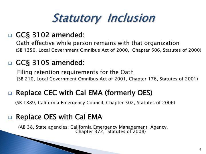 Statutory  Inclusion