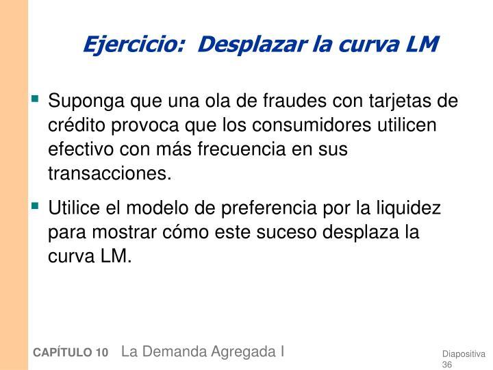 Ejercicio:  Desplazar la curva LM