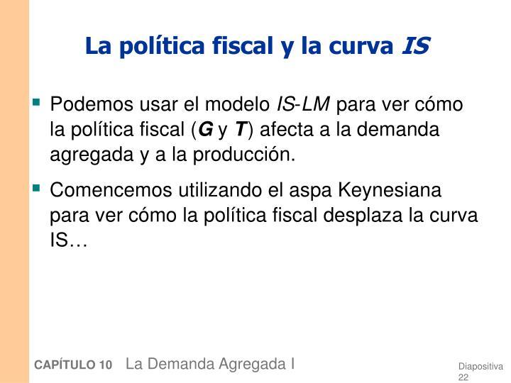 La política fiscal y la curva