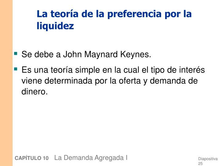 La teoría de la preferencia por la liquidez