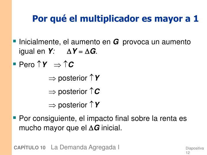 Por qué el multiplicador es mayor a 1