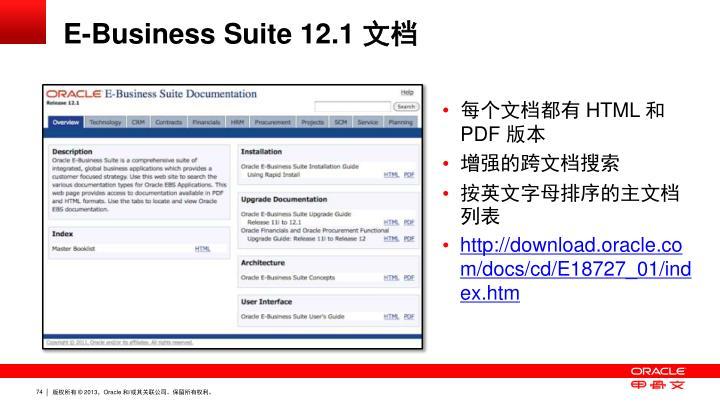 E-Business Suite 12.1 文档