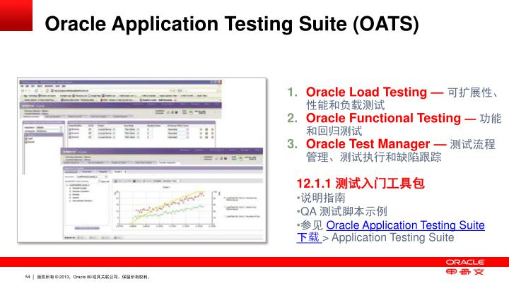 Oracle Application Testing Suite (OATS)