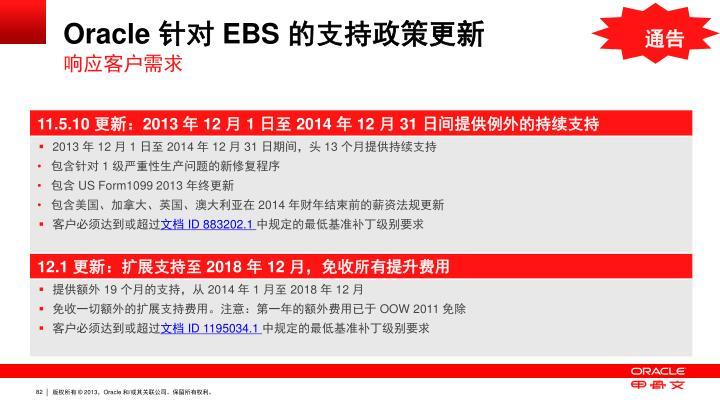 Oracle 针对 EBS 的