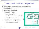 components correct composition