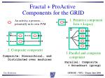 fractal proactive components for the grid