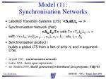 model 1 synchronisation networks