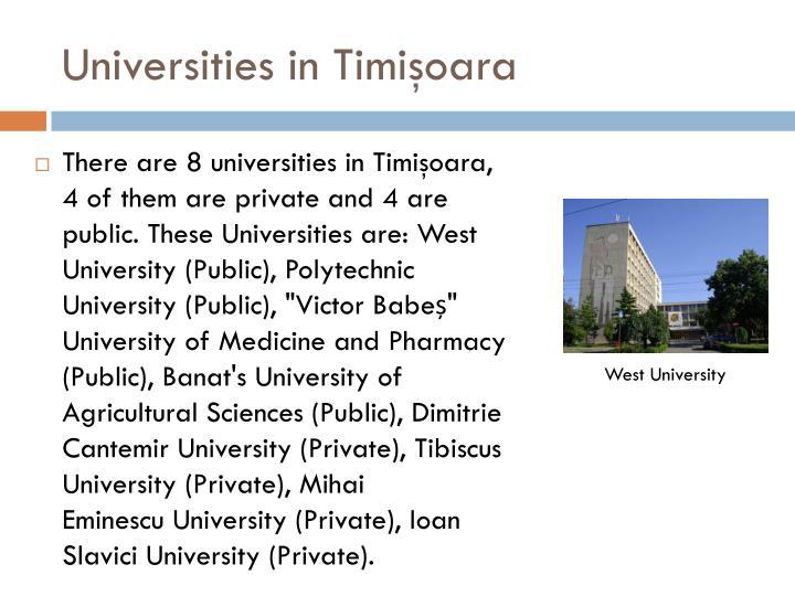 Universities in