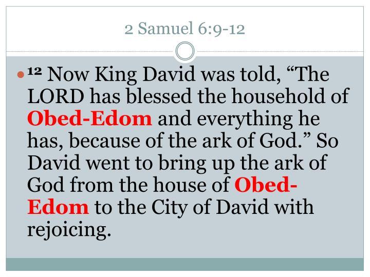 2 Samuel 6:9-12