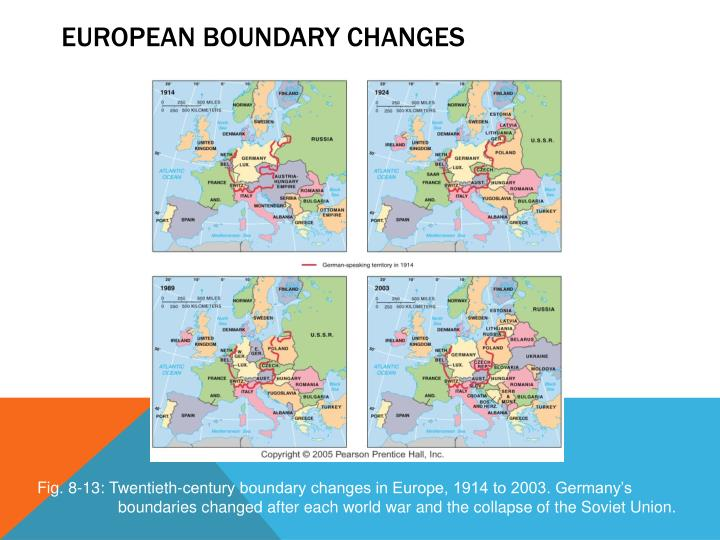 European Boundary Changes