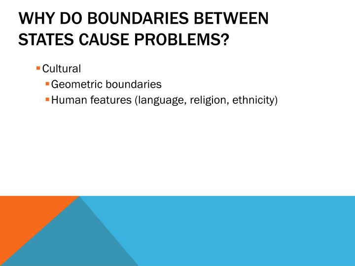 Why Do Boundaries Between States Cause Problems?