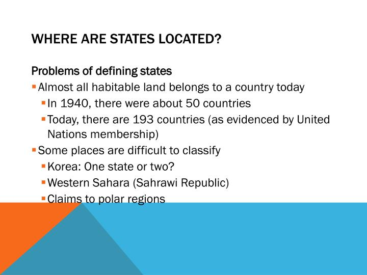 Where are states located