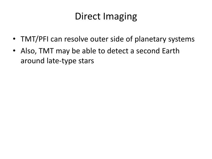 Direct Imaging