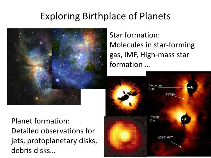 Exploring Birthplace of Planets
