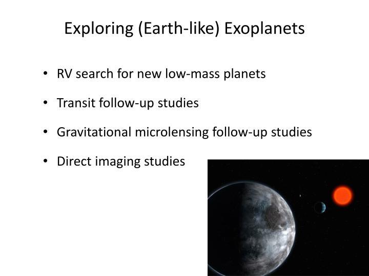 Exploring (Earth-like)