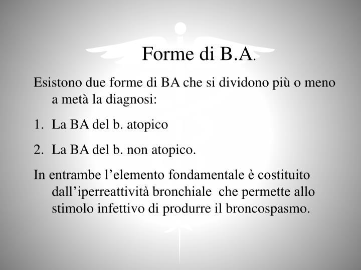 Forme di B.A