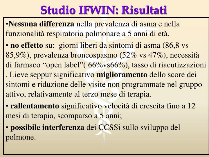 Studio IFWIN: Risultati