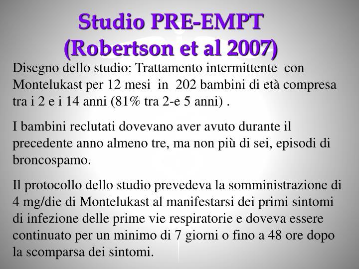 Studio PRE-EMPT (Robertson et al 2007)