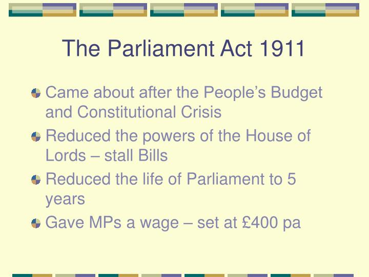 The Parliament Act 1911