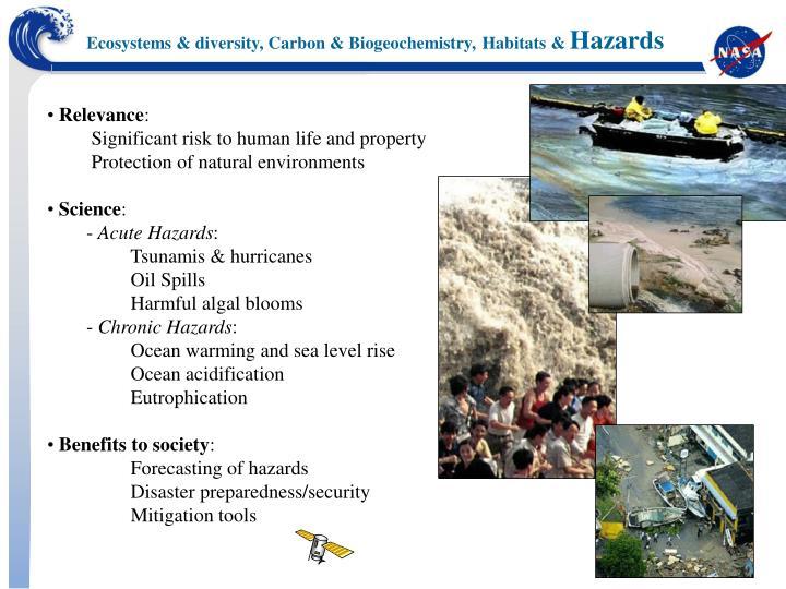 Ecosystems & diversity, Carbon & Biogeochemistry,