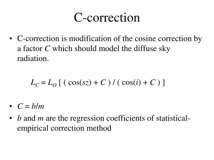 C-correction