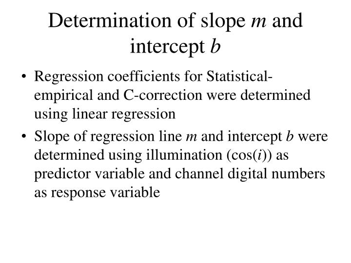 Determination of slope
