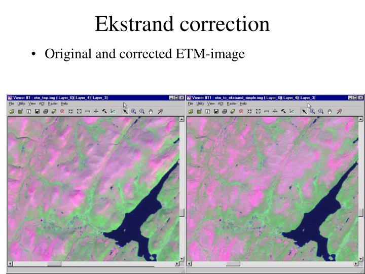 Ekstrand correction