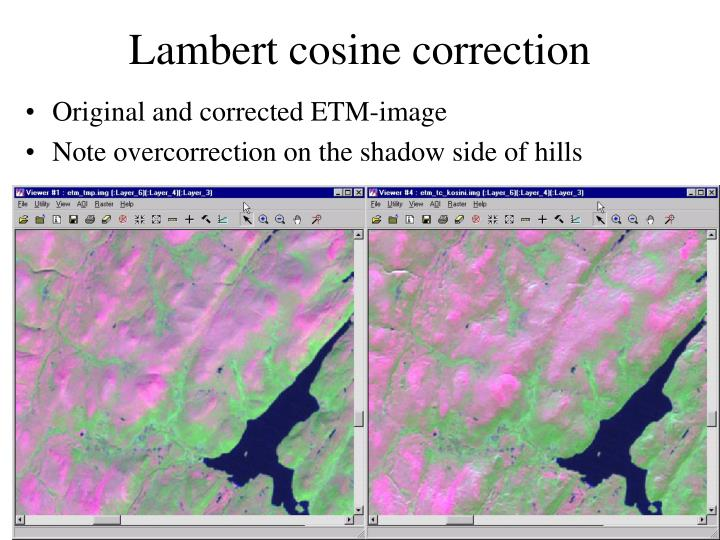 Lambert cosine correction