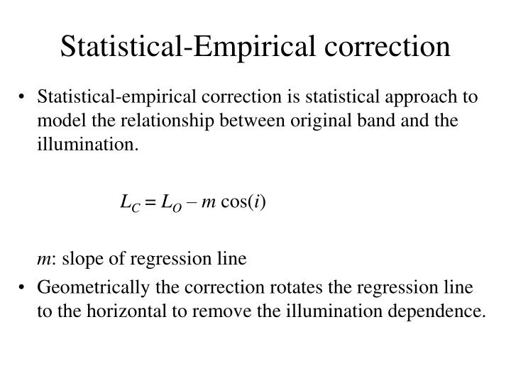 Statistical-Empirical correction