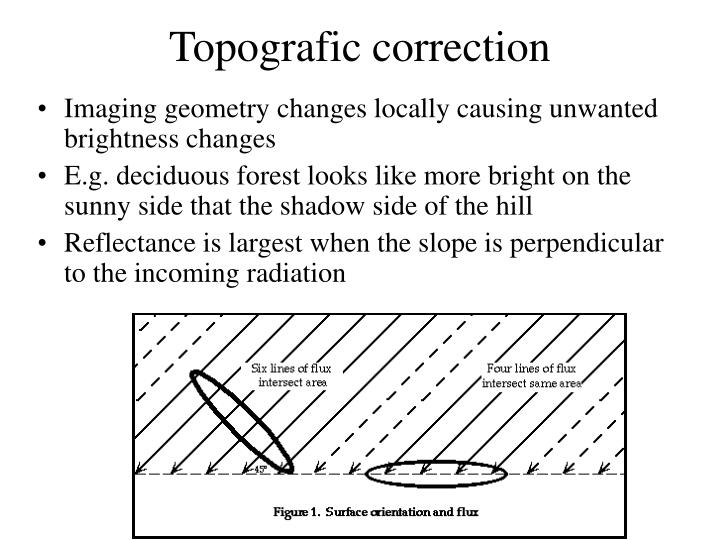 Topografic correction
