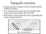 topografic correction