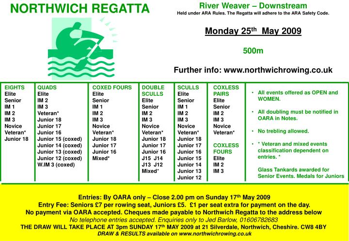 NORTHWICH REGATTA