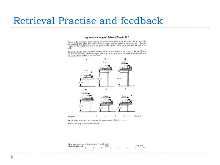 Retrieval Practise and feedback