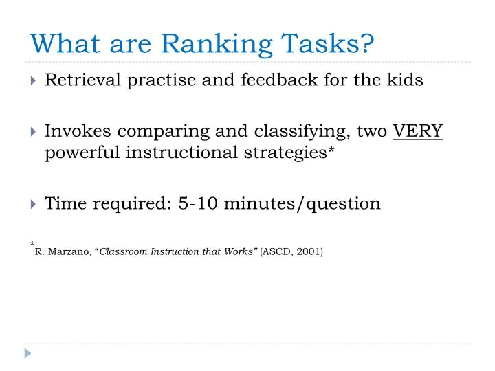 What are Ranking Tasks?