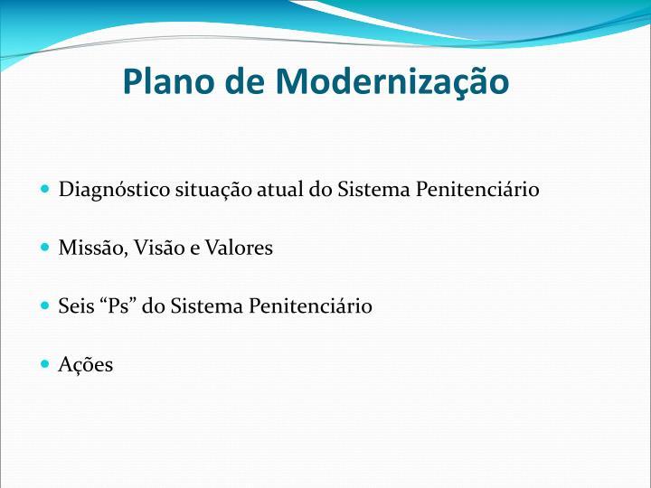 Plano de Modernização