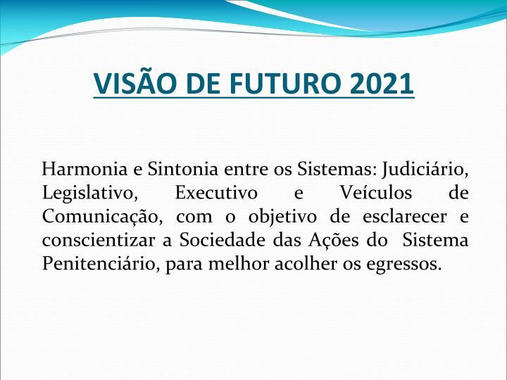 VISÃO DE FUTURO 2021
