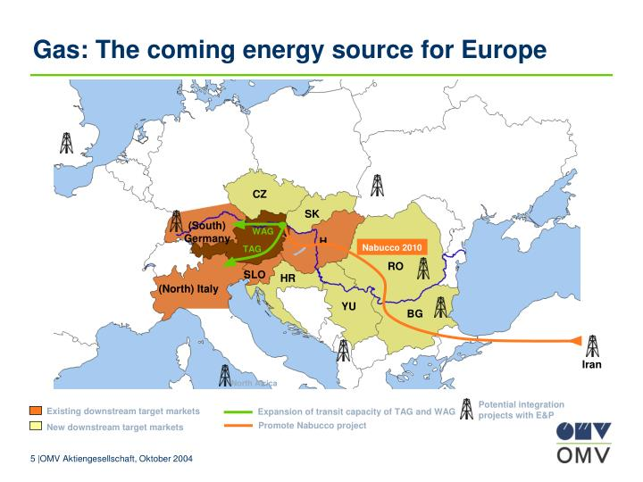 Gas: The coming energy source for Europe