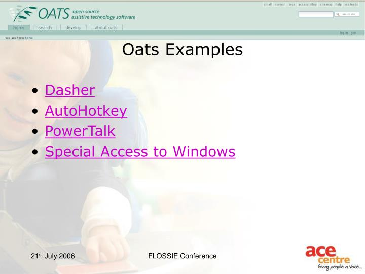 Oats Examples