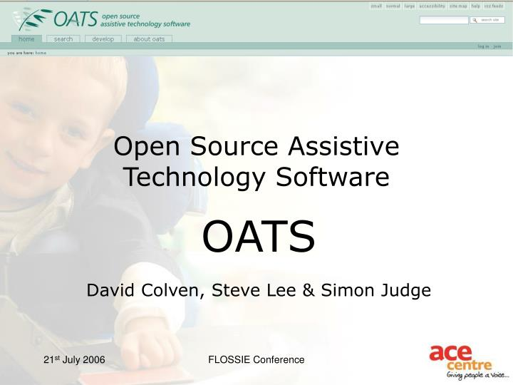 Open source assistive technology software