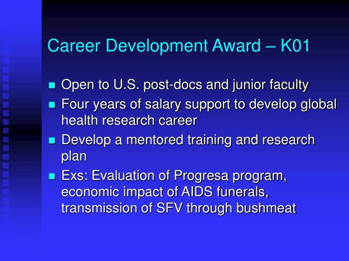 Career Development Award – K01