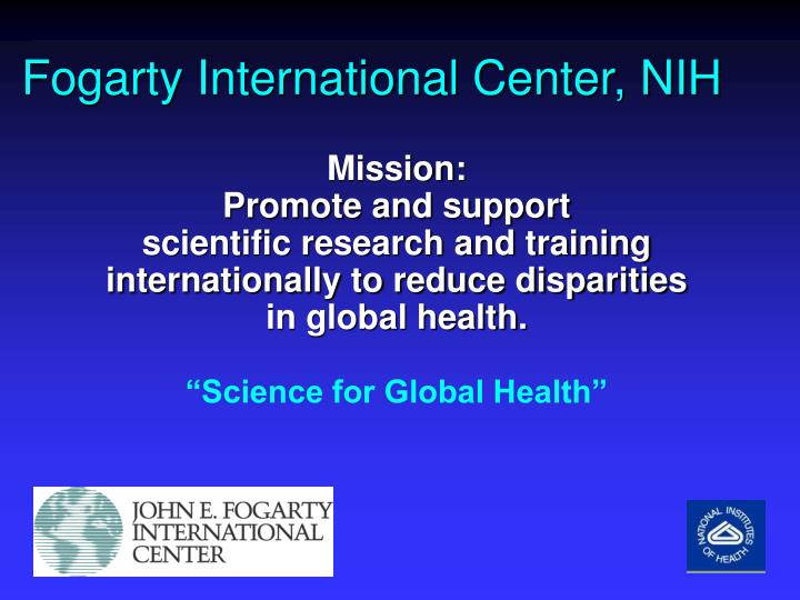 Fogarty International Center, NIH