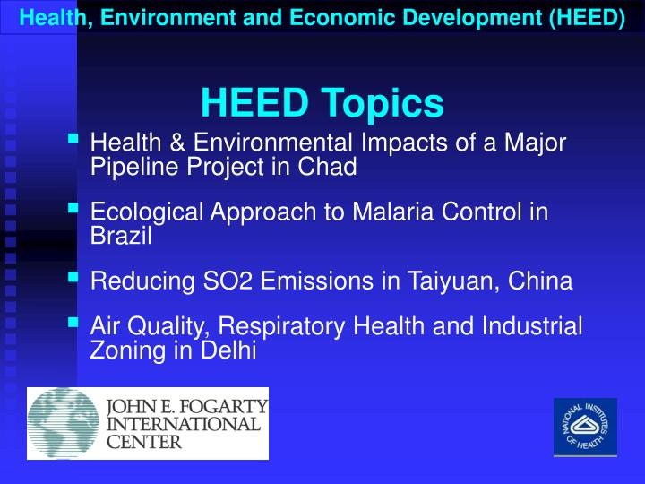 Health, Environment and Economic Development (HEED)