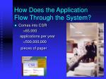 how does the application flow through the system