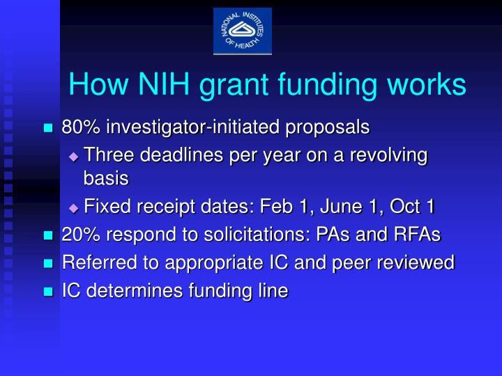 How NIH grant funding works
